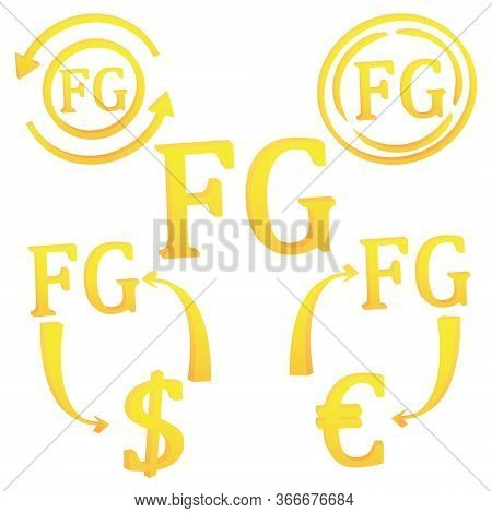 3d Guinean Frank Currency Of Guinea Set Symbol Icon Vector Illustration On A White Background