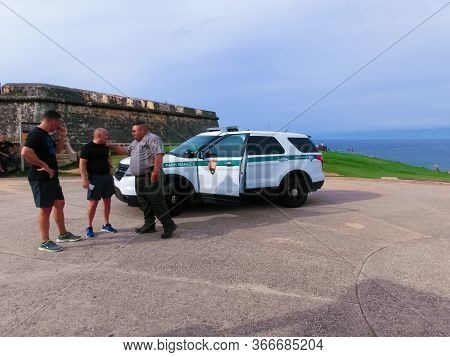 San Juan, Puerto Rico - May 08, 2016: Ford Explorer Official Car Of Park Rangers At San Juan, Puerto
