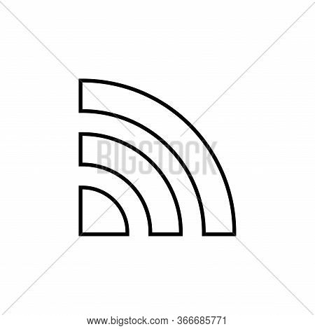 Isolated Wifi Signal Icon On A White Background. Wifi Signal Icon With A Modern Design Style. Wifi S