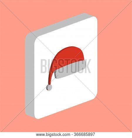 Winter Christmas Cap Simple Vector Icon. Illustration Symbol Design Template For Web Mobile Ui Eleme