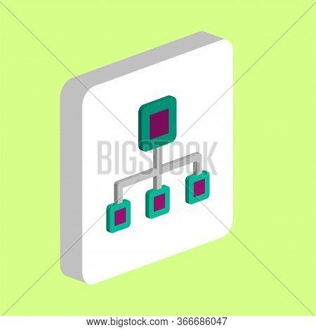 Flow Chart Simple Vector Icon. Illustration Symbol Design Template For Web Mobile Ui Element. Perfec