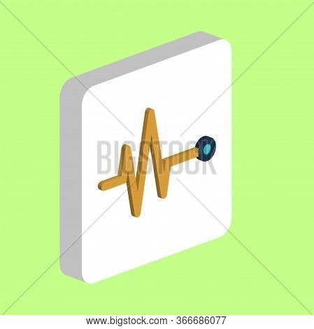 Pulse, Cardiogram Simple Vector Icon. Illustration Symbol Design Template For Web Mobile Ui Element.