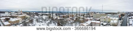 Panorama Of The Kirov City And And Razderikhinsky Ravine In The Central Part Of The City Of Kirov On