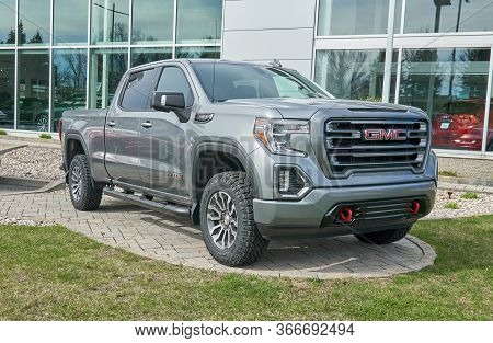Montreal, Canada - May 2, 2020: Gmc Canyon At4 Car. General Motors Truck Company, Formally The Gmc D