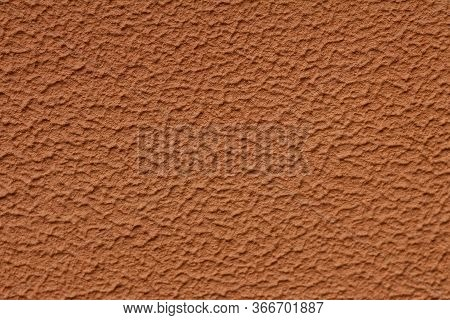 Texture Of Brawn Color Cement Plaster Wall