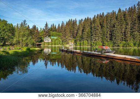 A Tranqul Morning On Bear Lake, Near Seward Alaska.