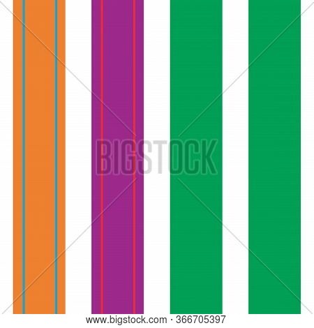 Vertical Stripes Seamless Pattern. Cool Lines Endless Design. Male, Female, Childrens Modern Fashion