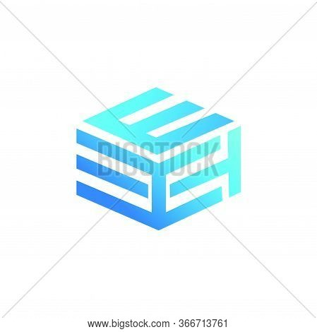 Mtk, Htm, Hte, Eth, Tke, Kte Initial Geometric Cubic Shape Letter Logo And Vector Icon