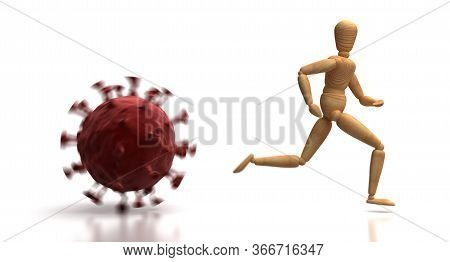 The Virus Is Spreading (isolated On White Background) 3d Rendering
