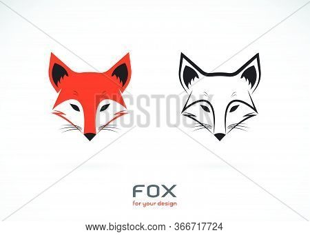 Vector Of Fox Head Design On White Background., Wild Animals., Fox Head Logos Or Icons., Easy Editab