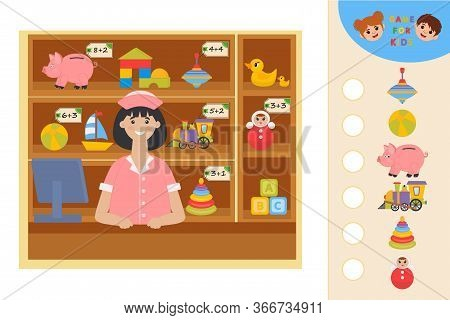 Education Logic Game For Preschool Kids. Kids Activity Sheet. Calculate The Cost Of Goods At The Pha