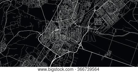 Urban Vector City Map Of Alkmaar, The Netherlands