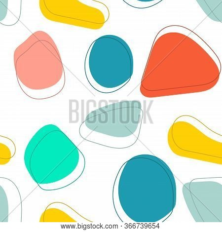 Pop Art Style Textures. Retro Comic Design. Abstract Pattern In Memphis 80s-90s Style. Vector Illust