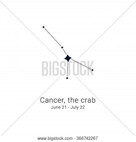 Cancer, The Crab. Constellation And The Date Of Birth Range