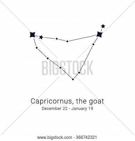 Capricornus, The Goat. Constellation And The Date Of Birth Range