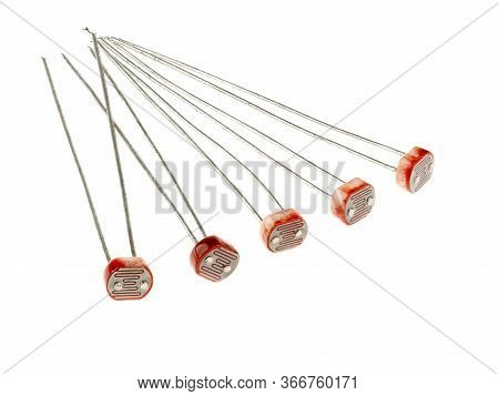A Group Of Photoresistors (or Light-dependent Resistor, Ldr, Or Photo-conductive Cell), Isolated On