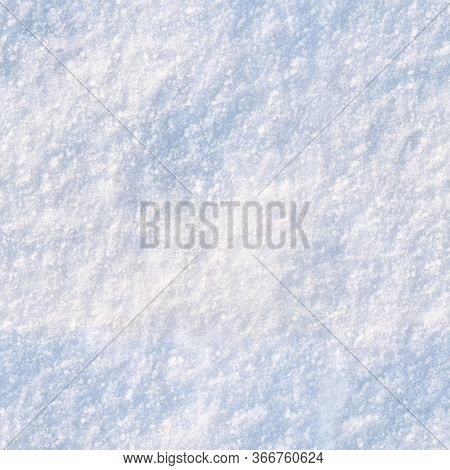 A Form Of Precipitation Consisting Of Small Crystals Of Ice. Seamless Snow Texture. Background Image