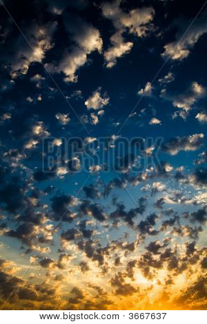this is good beautiful clouds at sunset poster