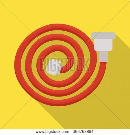 Vector Illustration Of Hose And Fireman Icon. Set Of Hose And Water Stock Symbol For Web.