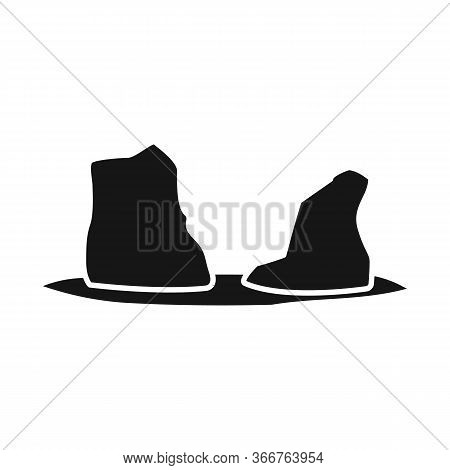 Isolated Object Of Rock And Bay Sign. Set Of Rock And Vietnamese Stock Vector Illustration.