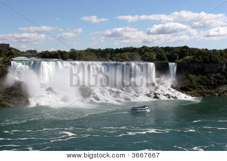 Niagra Falls As Seen From The Canadian Side