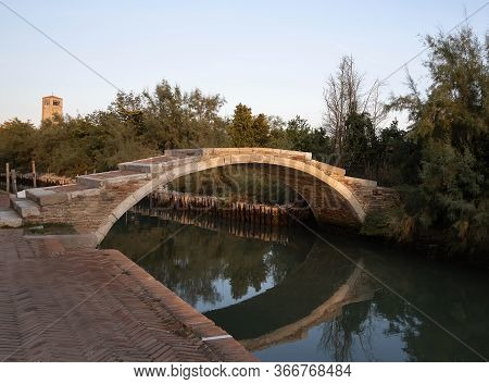 Devil's Bridge (ponte Del Diavolo) On The Island Of Torcello, Venice, Italy.