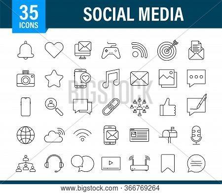 Set Social Media Icon. Telephone Icon. Digital Communication. Chat Bubble. Vector Stock Illustration