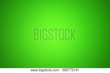 Green Background With A Circular Gradient, Blur Abstract Green Background With Vignette, Blurry Gree