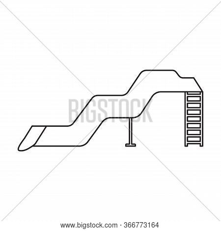 Water Slide Vector Icon.outline Vector Icon Isolated On White Background Water Slide .