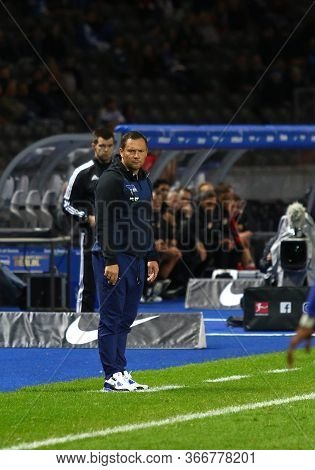 Berlin, Germany - September 20, 2017: Pal Dardai, Head Coach Of Hertha Bsc Berlin In Action During T