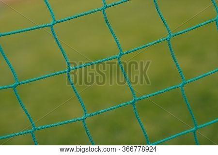 Detail Photo Of Sports Goal Net. Net Soccer Field Equipment