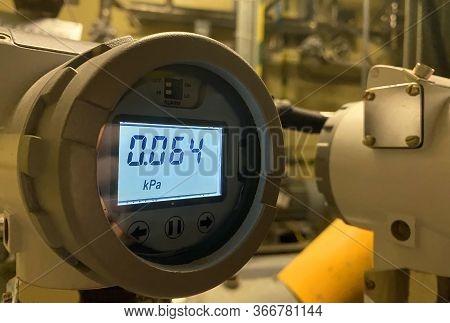 Pipe Pressure Sensor. Details And Close-up\npipe Pressure Sensor. Details And Close-up