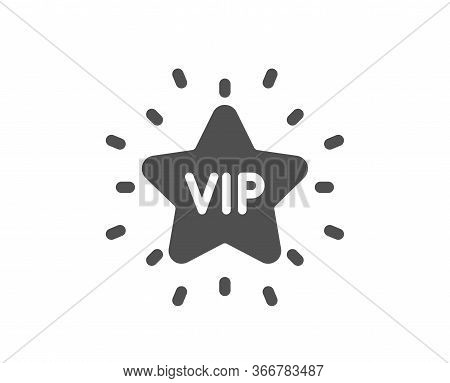 Vip Icon. Very Important Person Star Sign. Member Club Privilege Symbol. Classic Flat Style. Quality