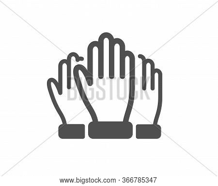 Vote Hands Icon. Election Voting Sign. Volunteers Or Referendum Symbol. Classic Flat Style. Quality