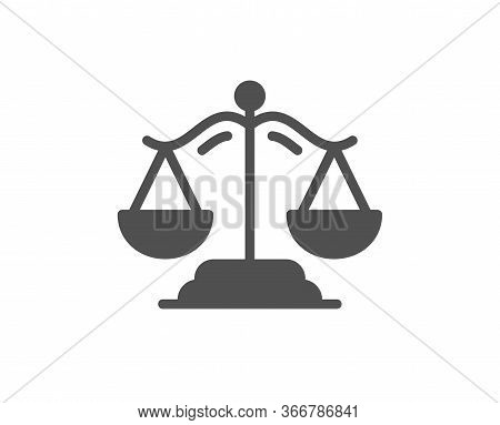 Justice Scales Icon. Judgement Scale Sign. Legal Law Symbol. Classic Flat Style. Quality Design Elem