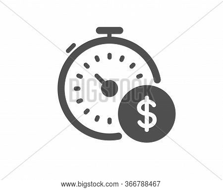 Last Minute Sale Icon. Shopping Timer Sign. Supermarket Time Symbol. Classic Flat Style. Quality Des