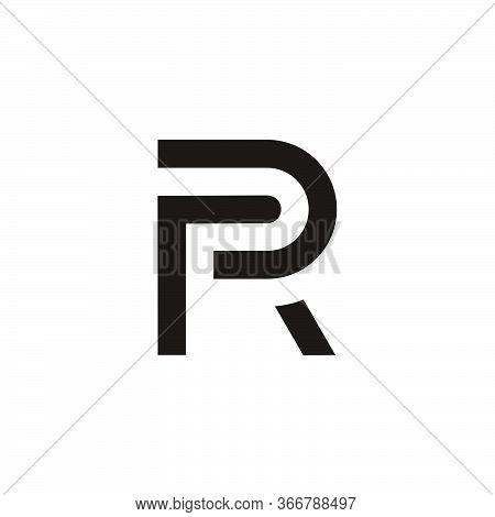 Letter Pr Simple Geometric Line Symbol Logo Vector