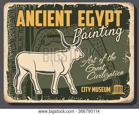 Ancient Egypt, God Apis Or Hapis Bull Symbol, Son Of Hathor, Primary Deity In Egyptian Civilization