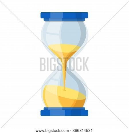 Vector Illustration Of Timepieces And Sandglass Symbol. Web Element Of Timepieces And Minute Stock S