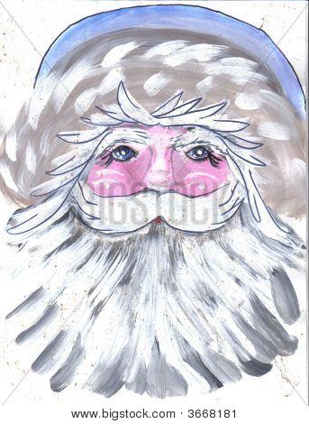 Painting Santa Blue Hat