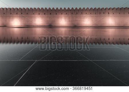 Qasr Al Muwaiji, Al Ain, United Arab Emirates - Jan.5, 2018: The Palace Of His Highness Sheikh Khali
