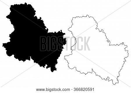 Yonne Department (france, French Republic, Bourgogne-franche-comte Region, Bfc) Map Vector Illustrat
