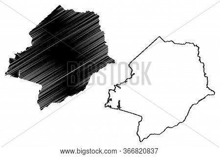 Hancock County, Georgia (u.s. County, United States Of America,usa, U.s., Us) Map Vector Illustratio