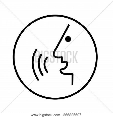 Voice Command Icon On White Background. Flat Style. Voice Control Icon For Your Web Site Design, Log