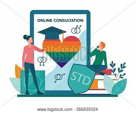 Sexual Education Online Service Or Platform. Sexual Health Lesson