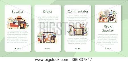 Professional Speaker, Commentator Or Voice Actor Mobile Application