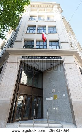 Paris, France - May 16, 2020 : The Entry Of Ministry Of Agriculture And Fishing Located In 15th Dist