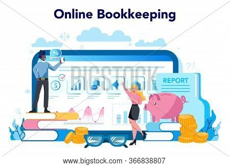Accountant Online Service Or Platform. Professional Bookkeeper