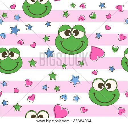 seamless frog background