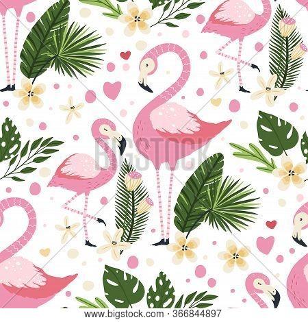 11+ Aloha Flamingo / Tropical Bird Vector Clipart Design